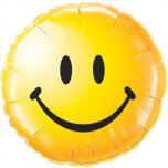 18 Inch Smiley Face Foil - Yellow