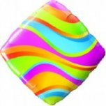 "Wavy Stripes Accent Patterns Diamond 18"" Foil"