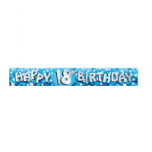18th Happy Birthday Banner Blue