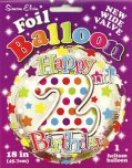 "18"" Multi Coloured Happy 2nd Birthday Foil Balloon"