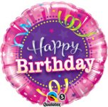 18 Inch Shining Star Hot Pink Birthday Foil