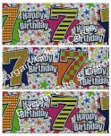 Multi Coloured 7th Birthday Banner