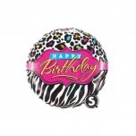 18 Inch Birthday Leopard Zebra Patterns Foil