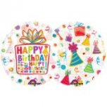 See-Thru Birthday Party Supershape