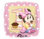 "18"" Minnie Mouse 1st birthday foil balloon"