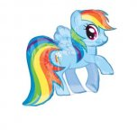 My Little Pony Rainbow Dash SuperShape Foil