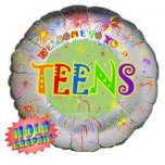 18 Inch Welcome To Your Teens Foil