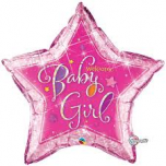"Welcome Baby Girl 36"" Foil Balloon"