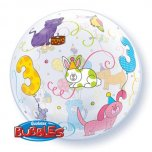 22 Inch Age 3 Cuddly Pets Bubble Balloon