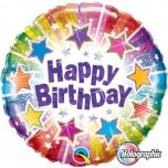"Birthday Radiant Stars 18"" Foil"