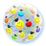 22 Inch Grad Smile Faces Bubble Balloon