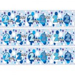 Age 2 Blue Patterned Banner