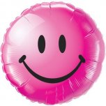 "Smiley Face 18"" Foil - Wild Berry"