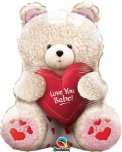 "24"" Love You Babe Teddy Valentine's Day Foil Balloon"