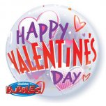 "22 "" Valentines Bold Hearts Bubble Balloon"