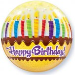 22 Inch Birthday Candles & Frosting Bubble Balloon