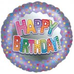 "Happy Birthday Stars 18"" Foil"