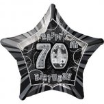 70th Birthday Glitz Black Foil