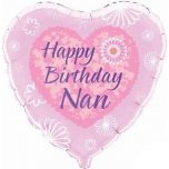 "Happy Birthday Nan 18"" Foil"