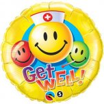 18 Inch Get Well Smiley Faces Foil