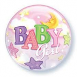 "Baby Girl 22"" Bubble Balloon"