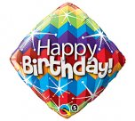 "Zig Zags & Starbursts Happy Birthday 18"" Foil"