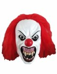 Snarling terror clown mask