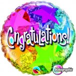 18 Inch Congratulations Star Patterns Foil