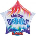 Happy Birthday Star Bubble Balloon
