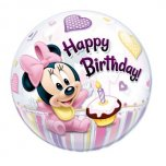 22 Inch Minnie Mouse 1st Birthday Bubble Balloon