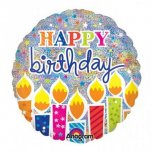 "Shimmer Birthday Candles 18"" Foil"