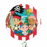 17 Inch Jake And The Neverland Pirates Foil Balloon