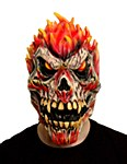 Flaming Skull Latex Mask