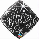 "Black Diamond Happy Birthday 18"" Foil"