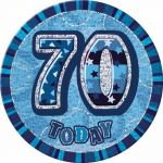 Blue Glitz 70 Jumbo Badge
