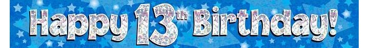 Pink 13th Happy Birthday Banner 5055370624450