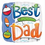 "Square Best Dad 18"" Foil"