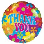 "Thank You Flower 18"" Foil"